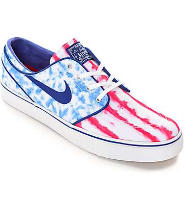Nike SB Zoom Janoski Premium Canvas US Flag Skate Shoes
