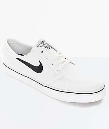 Nike SB Zoom Janoski Summit White Canvas Skate Shoes