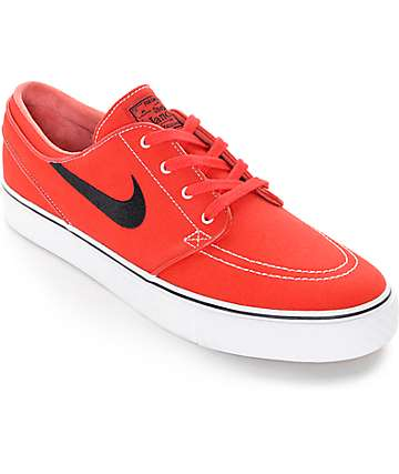 Nike SB Zoom Janoski University Red Canvas Skate Shoes