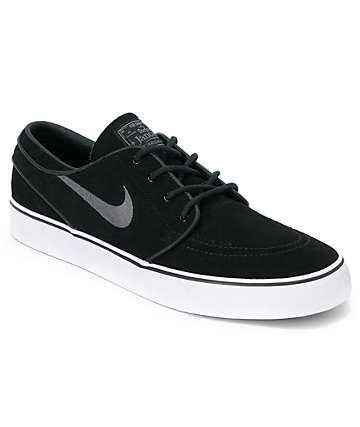 Nike SB Zoom Stefan Janoski Black & Graphite Suede Shoes