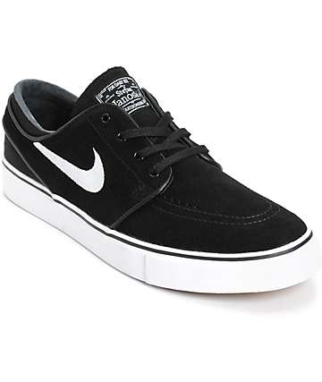 Nike SB Zoom Stefan Janoski Black & White Skate Shoes