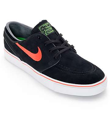 Nike SB Zoom Stefan Janoski Black and Crimson Suede Skate Shoes
