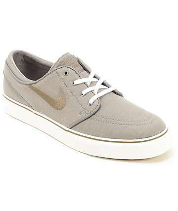 Nike SB Zoom Stefan Janoski Light Ash Dune Canvas Shoes