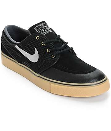 Nike SB Zoom Stefan Janoski PR SE Black & Gum Skate Shoes