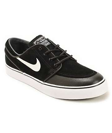 Nike SB Zoom Stefan Janoski Premium SE Black & White Skate Shoes