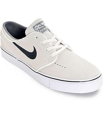 Nike SB Zoom Stefan Janoski Summit White and Black Skate Shoes