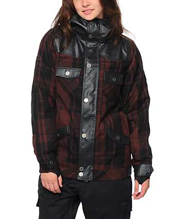 Nikita Mayon Plaid 10K Snowboard Jacket