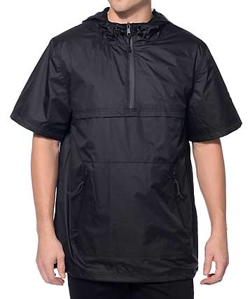 Ninth Hall Advance Black Short Sleeve Anorak Jacket