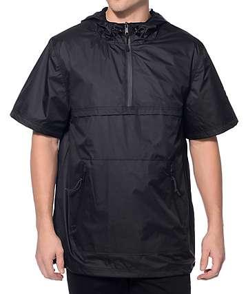 Ninth Hall Advance Black Short Sleeve Anorak Jacket