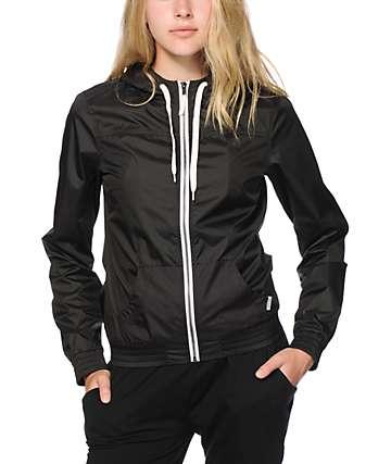Ninth Hall Albion Black Perforated Windbreaker Jacket