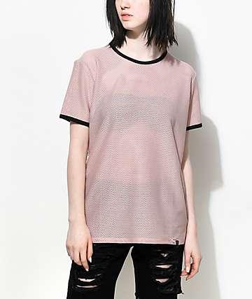 Ninth Hall Amelia camiseta de malla en negro y gris pardo