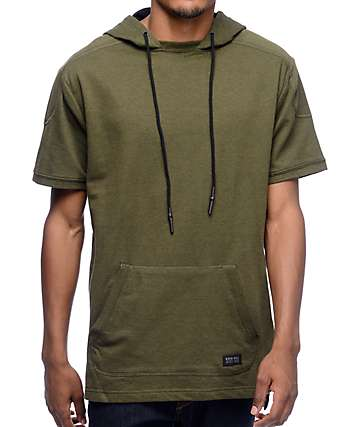 Ninth Hall Atlas Olive Short Sleeve Hooded Shirt