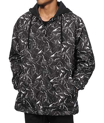 Ninth Hall Backstop Marble Hooded Coach Jacket