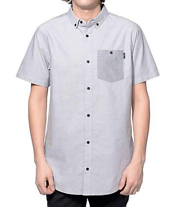 Ninth Hall Balance Grey and Charcoal 2 Tone Button Up Shirt