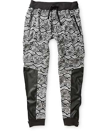 Ninth Hall Ball Python Polyurethane Jogger Pants