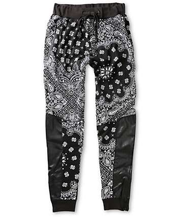 Ninth Hall Bandana Zipper Jogger Pants