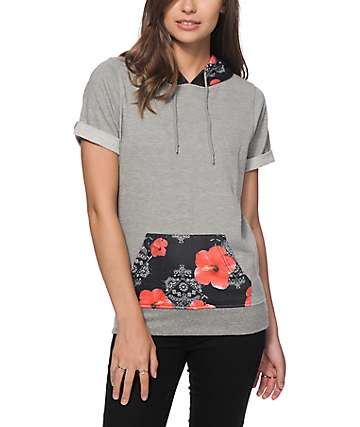 Ninth Hall Becky Floral Bandana Short Sleeve Hoodie