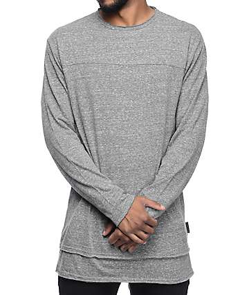 Ninth Hall Cedar Heather Charcoal Long Sleeve T-Shirt