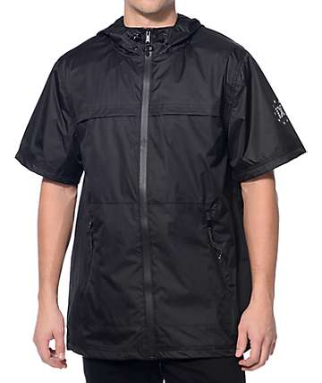 Ninth Hall Chances Black Short Sleeve Anorak Jacket