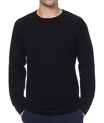 Ninth Hall Commando Black Waffle Knit Sweater