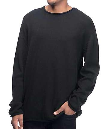 Ninth Hall Danzo suéter negro con cuello redondo