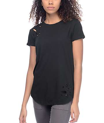 Ninth Hall Dear camiseta rota en negro