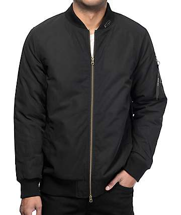 Ninth Hall Deprivation Black Light Filled Bomber Jacket