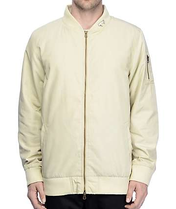 Ninth Hall Deprivation Champagne Nylon Bomber Jacket