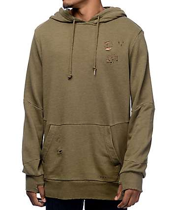 Ninth Hall Discover Olive Wash Hoodie