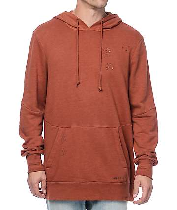 Ninth Hall Discover Rust Wash Hoodie