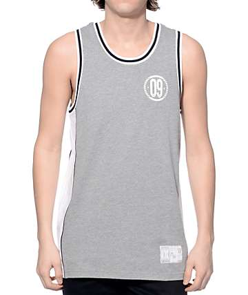 Ninth Hall Double Down Grey and White Mesh Jersey