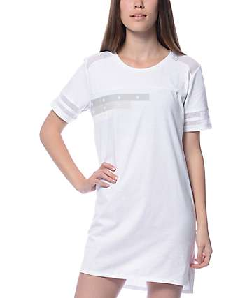 Ninth Hall Felix White Star T-Shirt Dress