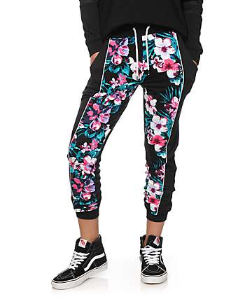 Ninth Hall Gita Floral Panel Jogger Pants