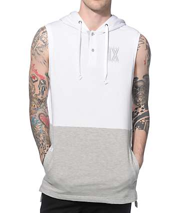 Ninth Hall Half Life Sleeveless Henley Hoodie
