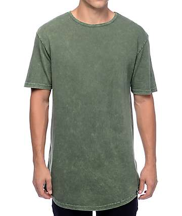 Ninth Hall High Rise Dark Green Wash T-Shirt