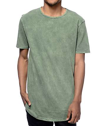 Ninth Hall High Rise Green Wash Long T-Shirt