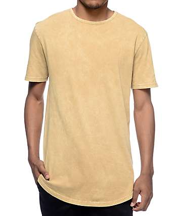 Ninth Hall High Rise Tan Wash Long T-Shirt
