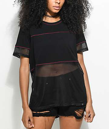 Ninth Hall Isabella Black Mesh Top