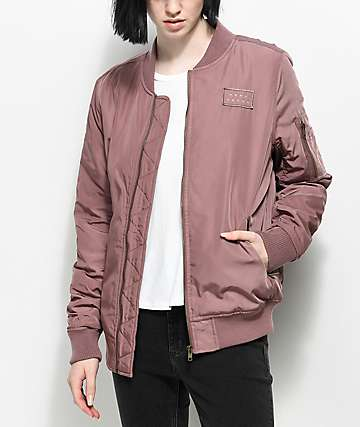 Ninth Hall Jonni Dusty Mauve Bomber Jacket