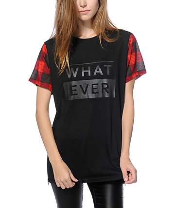 Ninth Hall Karlita Plaid Bandana Zip Side T-Shirt