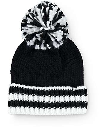 Ninth Hall Kayla Stripe Pom Beanie