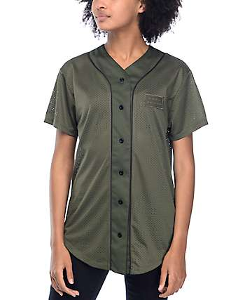 Ninth Hall Kemp Olive Baseball Jersey