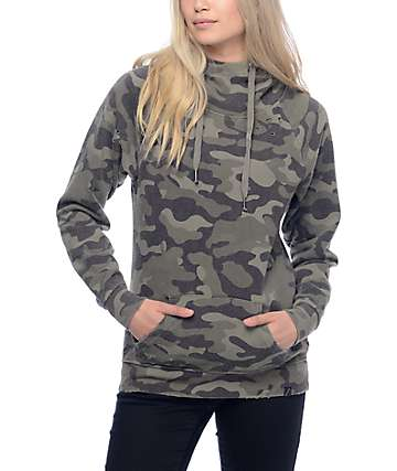 Ninth Hall Kitzy Camo Destucted Pullover Hoodie