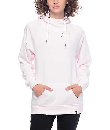 Ninth Hall Kitzy Destructed Pink Hoodie