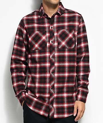 Ninth Hall Lank Red & Black Flannel Shirt