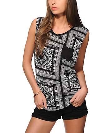 Ninth Hall Lauryn Bandana Muscle Tee