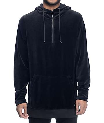 Ninth Hall Legend Velour sudadera negra con capucha