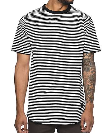 Ninth Hall Lenon Black & White Striped T-Shirt