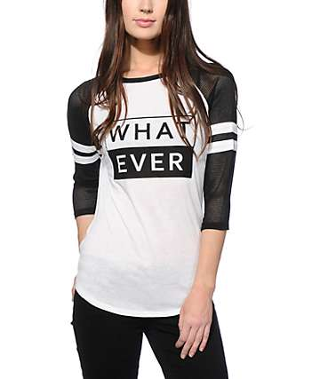 Ninth Hall Lopez Whatever Mesh Sleeve Baseball Tee