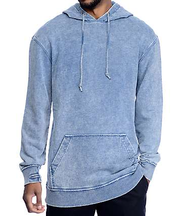 Ninth Hall Lower Lights Denim Blue Wash Hoodie